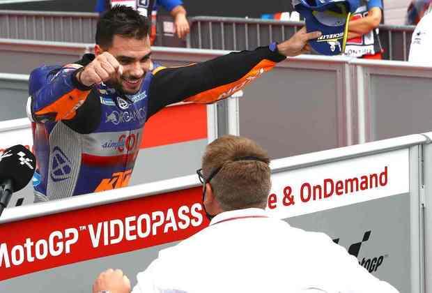 Miguel Oliveira conseguiu a primeira vitória na MotoGP