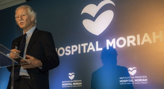 O urologista Miguel Srougi no discurso de inauguração do Instituto da Próstata