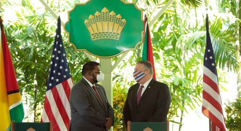 Atualmente, EUA mantêm melhores relações com Guiana do que com Venezuela