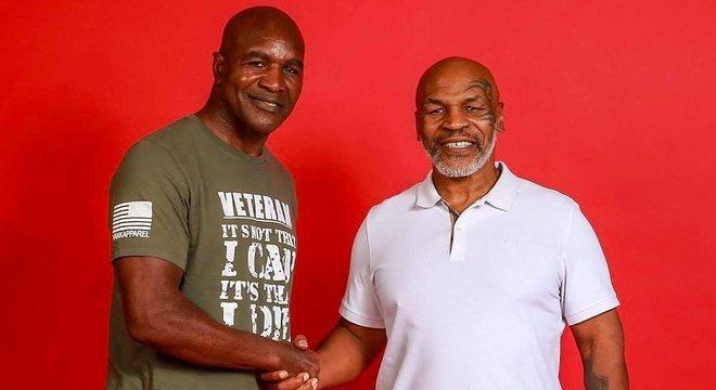 Evander Holyfield e Mike Tyson deixaram para trás as diferenças do passado