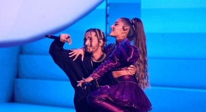Mikey Foster e Ariana Grande na turnê