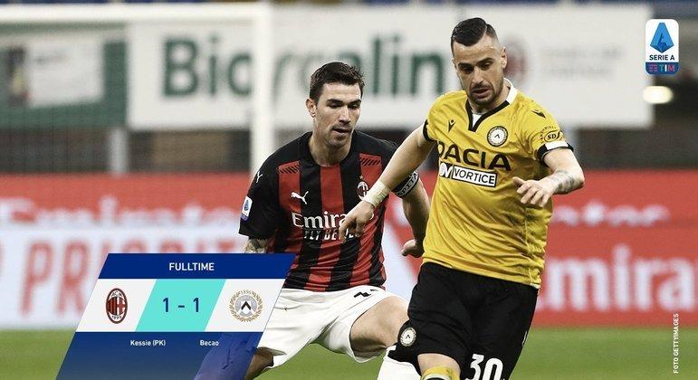 Milan 1 X 1 Udinese