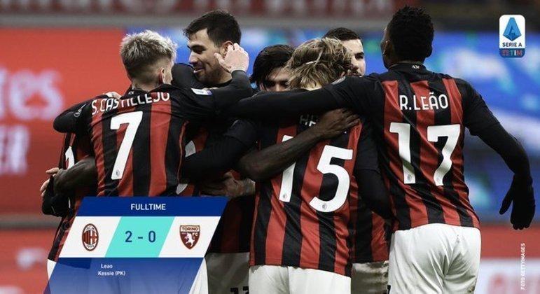 Milan, sossegados 2 X 0 e a liderança assegurada
