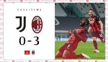 O Milan humilha a Juve e a coloca fora da chamada Zona Champions