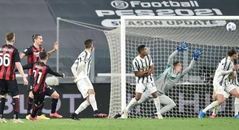 Depois da saída grotesca de Szczesny, o tento de Brahim Díaz, Juve 0 X 1 Milan