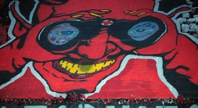 Bandeira da torcida do Milan