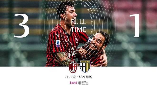 A capa do Twitter do Milan