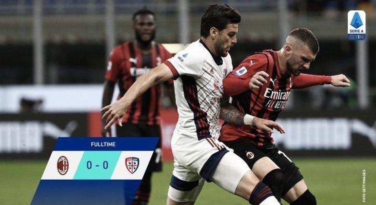 o Milan, uma prestação medíocre diante do Cagliari