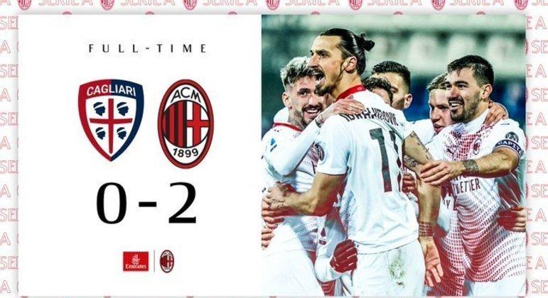 A capa obviamente festiva do Twitter do Milan