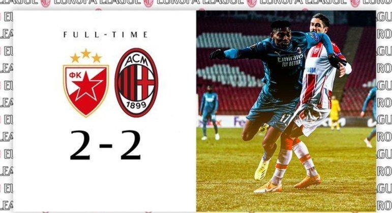 A capa do Twitter oficial do Milan
