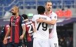 O Milan, do atacante sueco Ibrahimovic, venceu o Bologna por 2 a 1, fora de casa, ainda no sábado (30), resultado que o mantém firme na liderança do Italiano, com 46 pontos