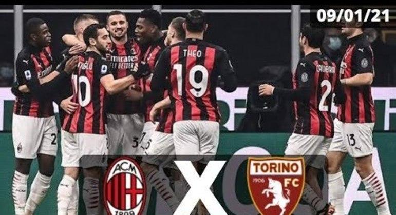 Milan X Torino, pelo Campeonato no sábado, pela Copa Itália na terça-feira