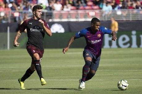 Malcom criou chances do Barcelona contra Milan