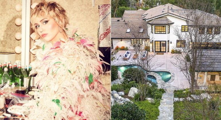 A cantora Miley Cyrus conseguiu vender sua mansão em Hidden Hills, Los Angeles, nos EUA, pelo valor de US$ 7,2 milhões, o equivalente a R$ 35 milhões. Confira mais fotos e detalhes da propriedade de luxo