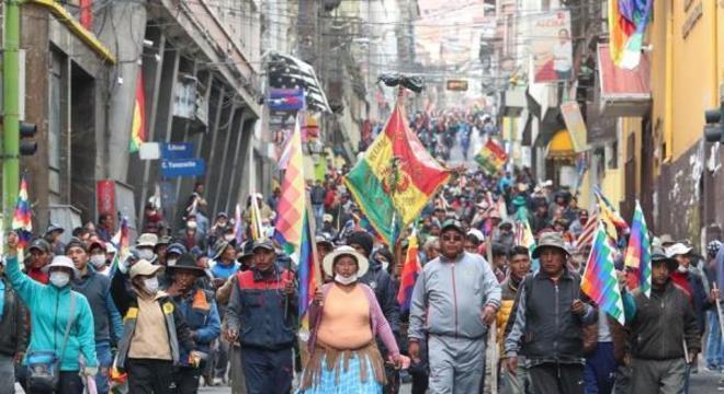 Manifestantes tomaram as ruas de La Paz nesta quinta-feira