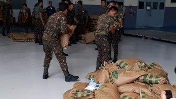 __1º avião com ajuda humanitária para a Venezuela chega a Roraima__ (Reprodução)