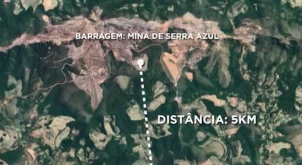 Barragem fica em Itatiaiuçu (MG)