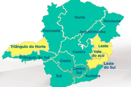 """10 das 14 regiões do estado estão na """"onda verde"""""""