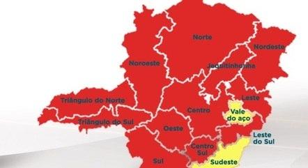 Apenas duas regiões estão na 'onda amarela'