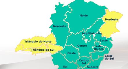 Onze das 14 regiões estão na 'onda verde'