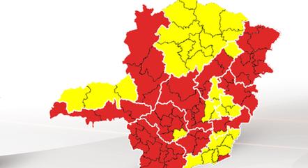 Maioria das regiões está na 'onda vermelha'