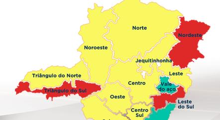 Três regiões seguem na onda vermelha