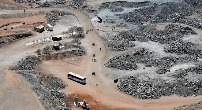 Local do desmoronamento que ficou conhecido como acidente na mina San José