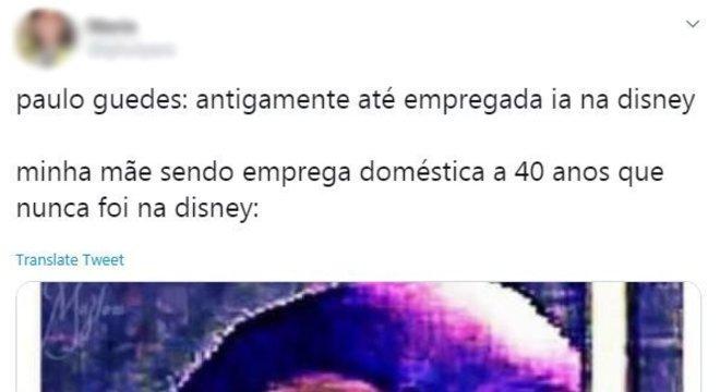 'Minha mãe foi empregada doméstica por 40 anos e nunca foi à Disney'
