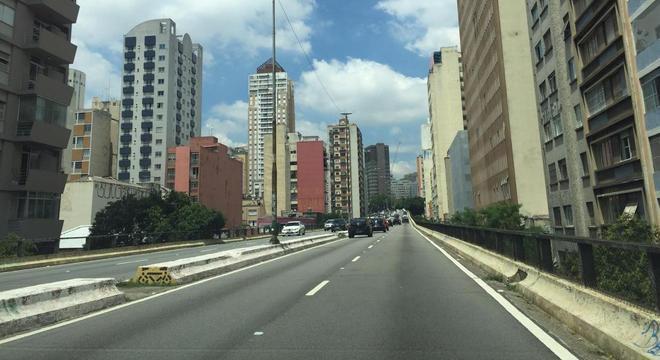 O Minhocão, na região central de São Paulo