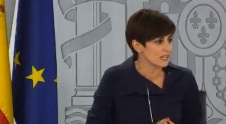 Ministra porta-voz do governo espanhol, Isabel Rodríguez