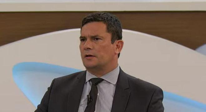 Ministro da Justiça, Sérgio Moro, em entrevista à TV