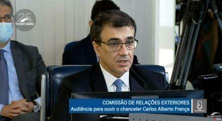Carlos França falou à Comissão de Relações Exteriores do Senado