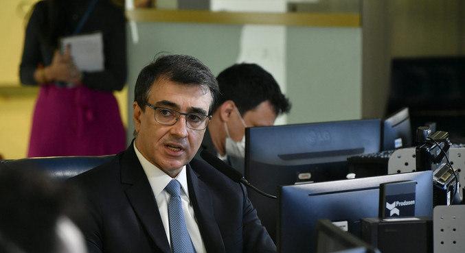 O ministro das Relações Exteriores, Carlos Alberto Franco França, no Senado