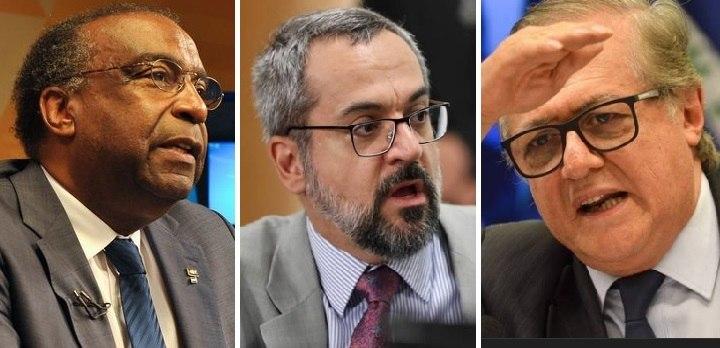 Carlos Alberto Decotelli, Abraham Weintraub e Ricardo Vélez, ministros da Educação de Bolsonaro