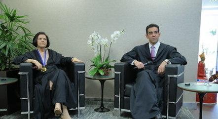 Ministros Ana Arraes e Bruno Dantas (TCU)