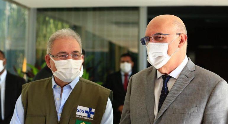 Marcelo Queirogo (Saúde) e Milton Ribeiro (Educação) anunciam protocolo sanitário para volta às aulas