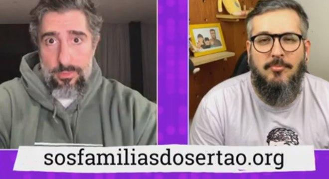 Marcos Mion  conversou com Thiago Queiroz, criador do site Paizinho, Vírgula!