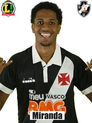Miranda - 4,0   Tirou uma bola em cima da linha e impediu o gol do Grêmio. Fora isso, muito lento na recomposição as investidas dos jovens atletas do Tricolor. No fim, ainda cometeu um pênalti.
