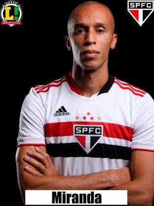 Miranda - 4,5 - Partida péssima do zagueiro. Tomou um cartão amarelo que o deixa de fora do próximo jogo da equipe, e falhou no lance do segundo gol do Fluminense.