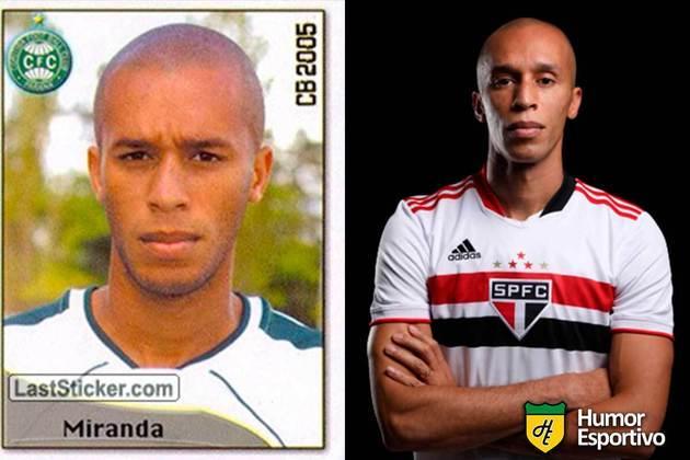Miranda defendeu o Coritiba no Brasileirão 2005. Em 2021, aos 36 anos, volta a disputar o Brasileirão vestindo as cores do São Paulo.