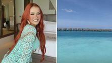 Mirela Janis viaja para Maldivas: 'Nem acredito que estou aqui'