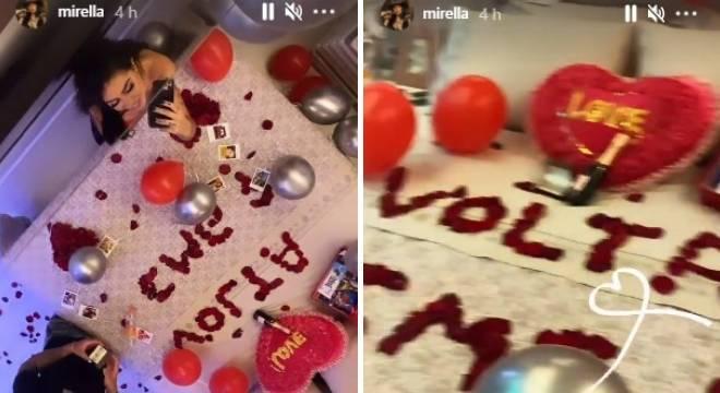 Dynho prepara surpresa para Mirella após buscá-la no aeroporto