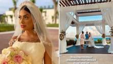 Juntos há 4 anos, MC Mirella e Dynho Alves se casam em Cancún