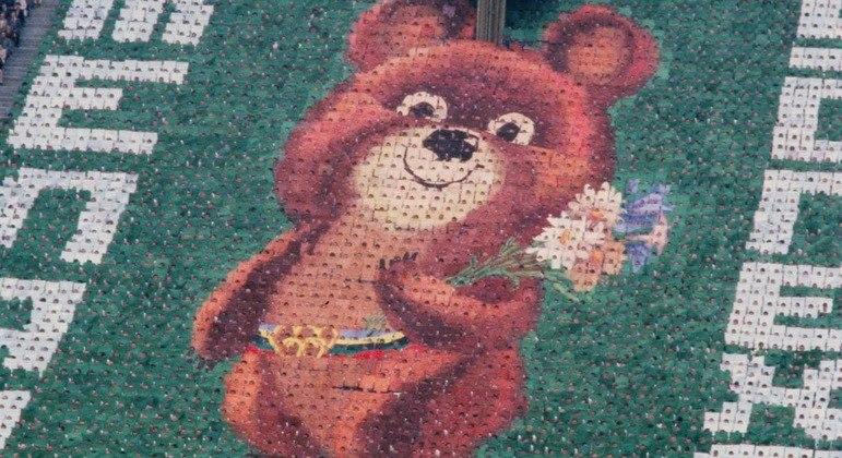 """Misha foi o mascote dos Jogos Olímpicos de Moscou, em 1980, e é lembrado por ter """"chorado"""""""