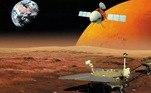 Entre o final de abril e o início de maio, o foguete chinês Longa Marcha 5, que partiu da Terra em julho do ano passado carregando uma sonda orbital, um módulo de pouso estacionário e um rover pousará em Marte. A missão Tianwen-1, considerada a mais ousada de todos os tempos, tem como objetivo orbitar, pousar e explorar a superfície do Planeta Vermelho a fim de obter dados de exploração científica no local