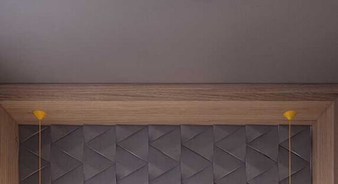 modelo minimalista de pendente para quarto