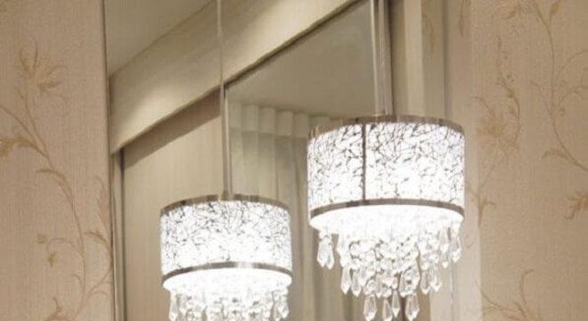 modelo pendente de cristal para quarto