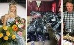 Uma modelo russa filmou momentos de absoluto terror ao procurar o corpo do pai em uma pilha de cadáveres dentro de um necrotério