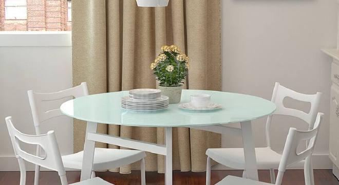 modelo simples de mesa redonda para sala de jantar