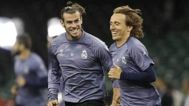 Modric e Bale: jogaram juntos no Tottenham e no Real Madrid